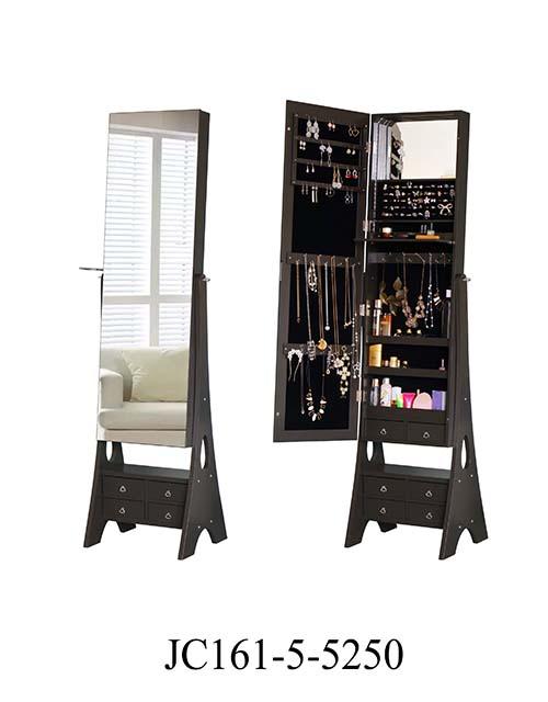 白色镜子珠宝卧室柜  JC161-5-5250