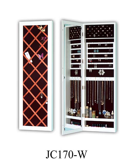 MDF卧室壁挂镜子珠宝柜 JC170-W